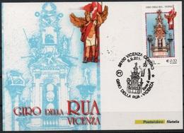 """Italia - Repubblica 2014 - """"Folclore Italiano, Giro Della Rua"""" Timbro 1 Giorno - Vicenza"""