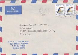BUSTA VIAGGIATA  BY AIR MALL - KENIA - VIAGGIATA  PER GAZZADA SCHIANNO ( VARESE ) / ITALIA - Kenia (1963-...)