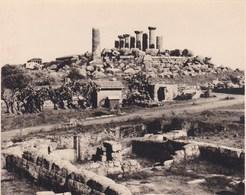 GIRGENTI Temples De La Concorde Et D'Hercule SICILIA Sicile 1926 Photo Amateur Format Environ 6,5 Cm Sur 5 Cm ITALIE - Luoghi
