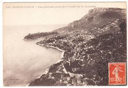CPA Monte-Carlo, Vue Generale Prise De La Route De La Corniche, Gel. - Monte-Carlo