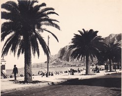 MONDELLO La Plage SICILIA  Août 1926 Photo Amateur Format Environ 6,5 Cm X 5,5 Cm - Luoghi