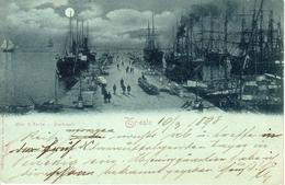 TRIESTE - Molo San Carlo/Karlsmole, Mondscheinkarte, 10.3.1898 - Trieste
