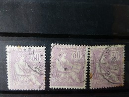 Lot De 3 Type Mouchon 30 C Violet  ; Ref ALB01 - 1900-02 Mouchon