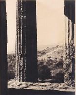 GIRGENTI Temple De La Concorde SICILIA  ITALIA Août 1926 Photo Amateur Format Environ 6,5 Cm X 5,5 Cm - Luoghi
