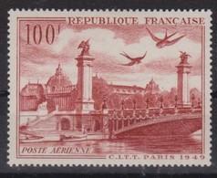 FRANCE Poste Aérienne 1949:   Le Y&T 28, Neuf** - 1927-1959 Ungebraucht