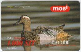 SLOVENIA B-208 Prepaid Mobi - Animal, Bird, Garganey - Val. 31/12/2000 - Used - Slovenia