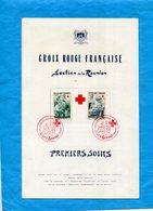 Marcophilie-reunion-feuillet Souvenir Numéroté-croix Rouge 1966  Cad Premiers Soins-dos Hopital Militaire - Reunion Island (1852-1975)