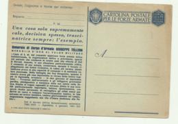 CARTOLINA POSTALE PER LE FORZE ARMATE NUOVA  - FG - Weltkrieg 1939-45