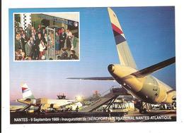 NANTES - 9 SEPTEMBRE 1989 - INAUGURATION DE L AEROPORT NANTES ATLANTIQUE - Nantes