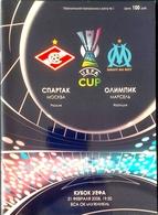 Football Program -   F.C.  SPARTAK  Moscow V.  OLYMPIQUE De Marseille ,  EURO - CUP , 2008. - Books