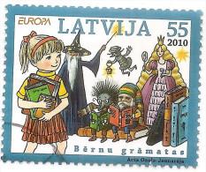 Latvia  Europa CEPT 2010  Children Book  Hedgehog + Gnome ,doll,poppet Used (o) - Letland