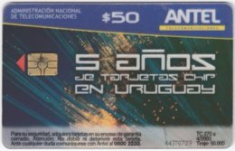 URUGUAY A-277 Chip Antel - Used - Uruguay