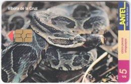 URUGUAY A-280 Chip Antel - Animal, Snake - Used - Uruguay