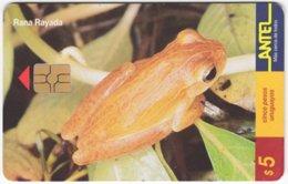 URUGUAY A-284 Chip Antel - Animal, Frog - Used - Uruguay