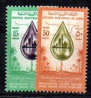 APR1410 - LIBIA LYBIA 1962 , Serie Yvert  N. 214/215  *** (2380A) Petrolio - Libia