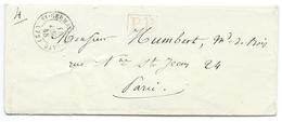 MP ST GERMAIN EN LAYE 1848 / PORT PAYE / POUR PARIS - Storia Postale