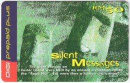 MALAYSIA A-519 Prepaid Digi - Landmark, Easter Island - Used - Malaysia