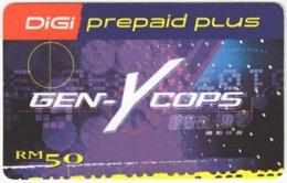 MALAYSIA A-529 Prepaid Digi - Cinema, Gen-Y Cops - Used - Malaysia