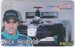 MALAYSIA A-560 Prepaid TimeCel - Sport, Formula One, Nick Heidfeld - Used - Malaysia