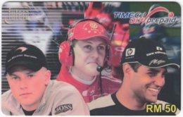 MALAYSIA A-562 Prepaid TimeCel - Sport, Formula One, Michael Schumacher - Used - Malaysia