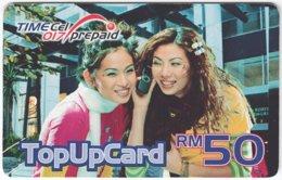 MALAYSIA A-563 Prepaid TimeCel - People, Woman - Used - Malaysia