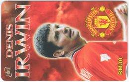 MALAYSIA A-564 Prepaid TimeCel - Sport, Soccer, Manchester United, Denis Irwin - Used - Malaysia
