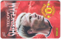 MALAYSIA A-566 Prepaid TimeCel - Sport, Soccer, Manchester United, Teddy Sheringham - Used - Malaysia