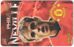MALAYSIA A-567 Prepaid TimeCel - Sport, Soccer, Manchester United, Phil Neville - Used - Malaysia