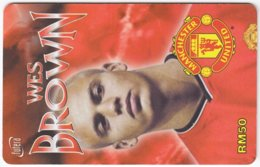 MALAYSIA A-569 Prepaid TimeCel - Sport, Soccer, Manchester United, Wes Brown - Used - Malaysia