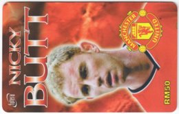 MALAYSIA A-571 Prepaid TimeCel - Sport, Soccer, Manchester United, Nicky Butt - Used - Malaysia
