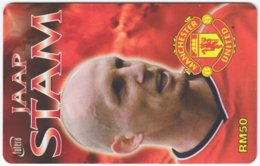 MALAYSIA A-574 Prepaid TimeCel - Sport, Soccer, Manchester United, Jaap Stam - Used - Malaysia
