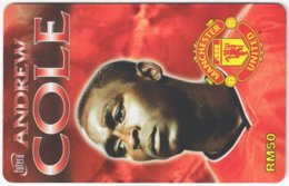 MALAYSIA A-575 Prepaid TimeCel - Sport, Soccer, Manchester United, Andrew Cole - Used - Malaysia
