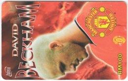 MALAYSIA A-576 Prepaid TimeCel - Sport, Soccer, Manchester United, David Beckham - Used - Malaysia