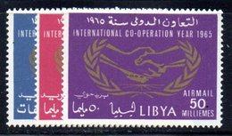 APR1413 - LIBIA LYBIA 1965 , Serie Yvert  N. 261/262  + Aerea *** (2380A) Onu - Libia