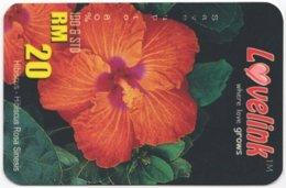 MALAYSIA A-596 Prepaid - Plant, Flower - Used - Malaysia