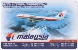 MALAYSIA A-597 Prepaid Brastel - Traffic, Airplane - Used - Malaysia