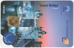 MALAYSIA A-603 Chip Telekom - Landmark, Tower Bridge, London - Used - Malaysia