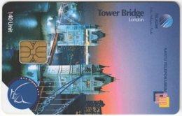 MALAYSIA A-607 Chip Telekom - Landmark, Tower Bridge, London - Used - Malaysia