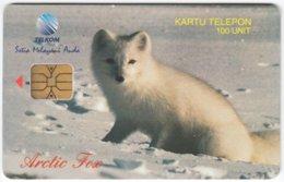 MALAYSIA A-608 Chip Telekom - Animal, Polar Fox - Used - Malaysia