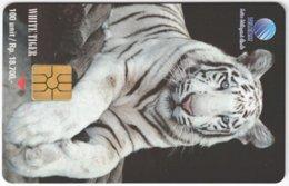 MALAYSIA A-613 Chip Telekom - Animal, Cat, White Tiger - Used - Malaysia
