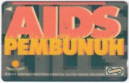 MALAYSIA A-615 Magnetic Telekom - Health, AIDS - 62MSAB - Used - Malaysia