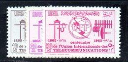APR1415 - LIBIA LYBIA 1965 , Serie Yvert  N. 267/269 *** (2380A)  Itu - Libia