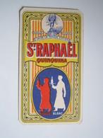 RARE 1925 CALENDRIERS PUBLICITAIRE SAINT RAPHAËL QUINQUINA ROUGE BLANC Parfumée Avec GOYESCAS RALLET Paris-Cannes - Klein Formaat: 1921-40