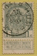 +MW-3898     *  HUMBEEK *   OCB 81      Sterstempel     COBA   +10 - 1893-1907 Wapenschild