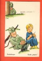 EPC-22 Humour Militaire Suisse, IGarde Pépère En Compagnie De Son Amoureuse..  Circulé - Umoristiche