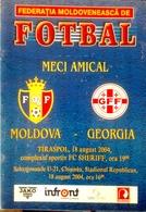 Football Program -   MOLDOVA U-21 V GEORGIA U-21, 2004. . - Books