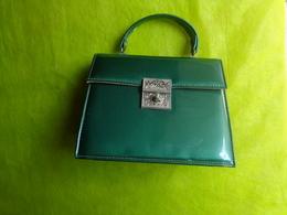 Sac A Main Vintage Coloris Vert - Habits & Linge D'époque