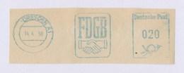 DDR AFS - DRESDEN, FDGB 14.4.58 - Unclassified