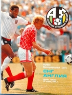 Football Program - C I S (Commonwealth Of Independent States, Ex USSR) V. ENGLAND,1992,Friendly. - Books
