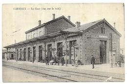 Carmaux La Gare (vue Sur La Voie) Edit. Cahuzac Carmaux - Carmaux